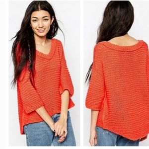 Free People Park Slope Open Knit Sweater